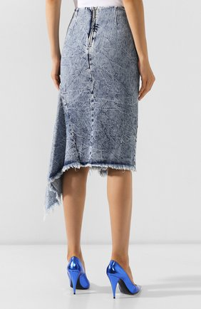 Женская джинсовая юбка BALENCIAGA синего цвета, арт. 571460/TEW36 | Фото 4
