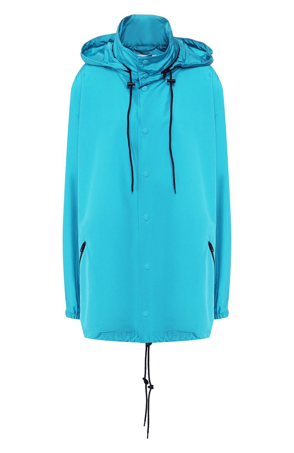 Женская куртка с капюшоном BALENCIAGA бирюзового цвета, арт. 556168/TYD36 | Фото 1