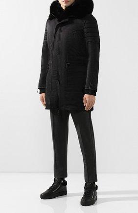Мужские кожаные кеды cole GIUSEPPE ZANOTTI DESIGN черного цвета, арт. RU80023/007 | Фото 2