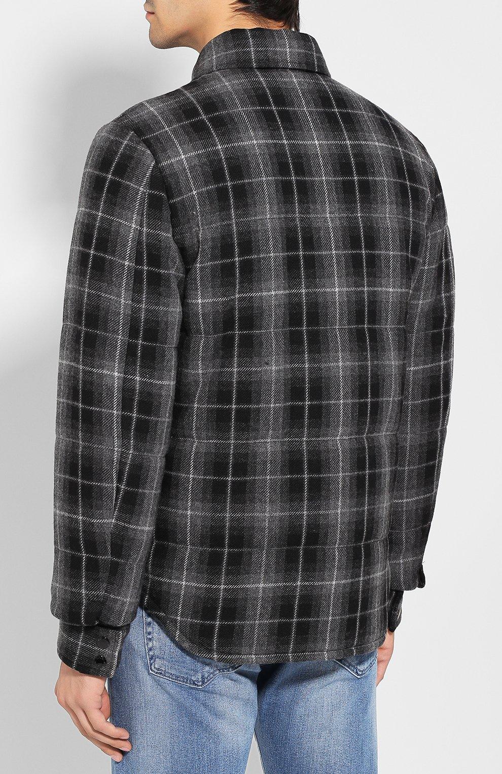 Мужская куртка из смеси шерсти и хлопка DOLCE & GABBANA серого цвета, арт. G9LP3T/FQ2DN   Фото 4