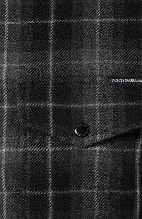 Мужская куртка из смеси шерсти и хлопка DOLCE & GABBANA серого цвета, арт. G9LP3T/FQ2DN   Фото 5
