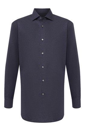 Мужская хлопковая сорочка BRIONI синего цвета, арт. RCL82D/07053 | Фото 1