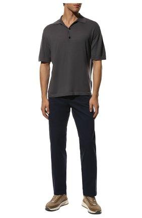 Мужские хлопковые брюки PAUL&SHARK синего цвета, арт. C0P4001/FEF | Фото 2