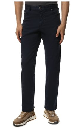 Мужские хлопковые брюки PAUL&SHARK синего цвета, арт. C0P4001/FEF | Фото 3
