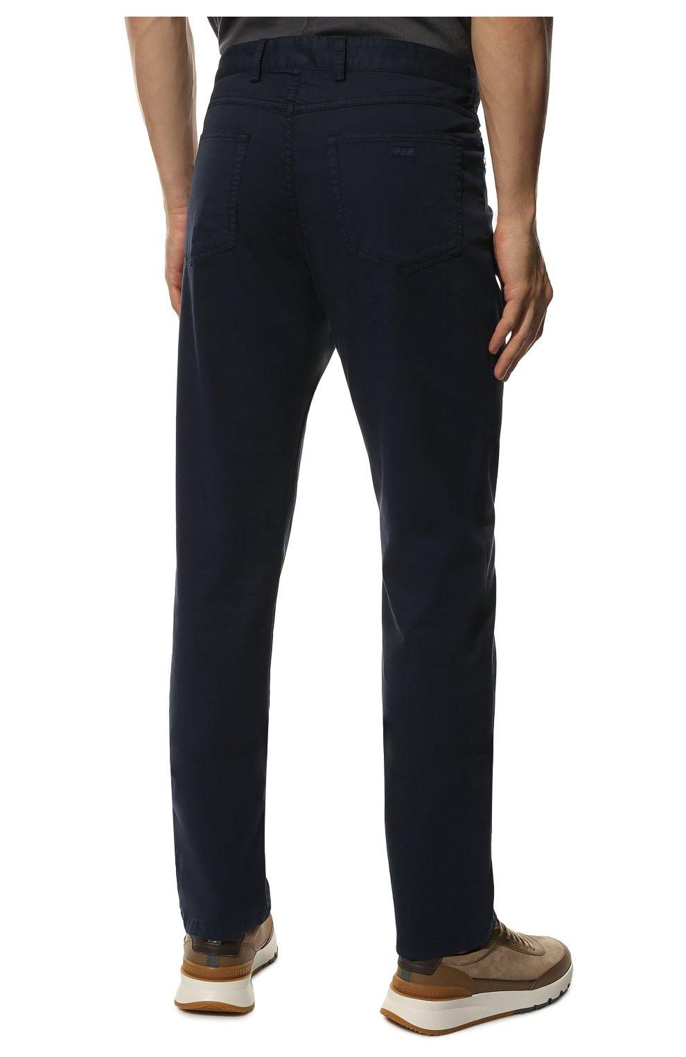 Мужские хлопковые брюки PAUL&SHARK синего цвета, арт. C0P4001/FEF | Фото 4