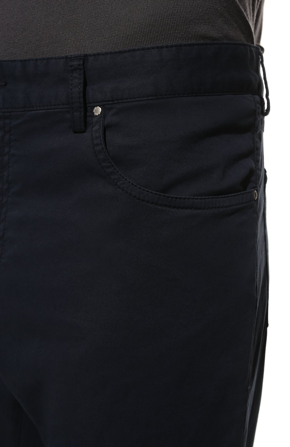 Мужские хлопковые брюки PAUL&SHARK синего цвета, арт. C0P4001/FEF | Фото 5
