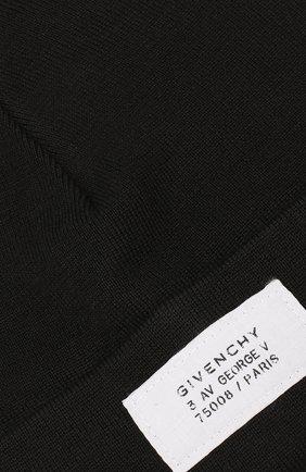 Мужская шапка GIVENCHY черного цвета, арт. GVCAPP/U1598 | Фото 3