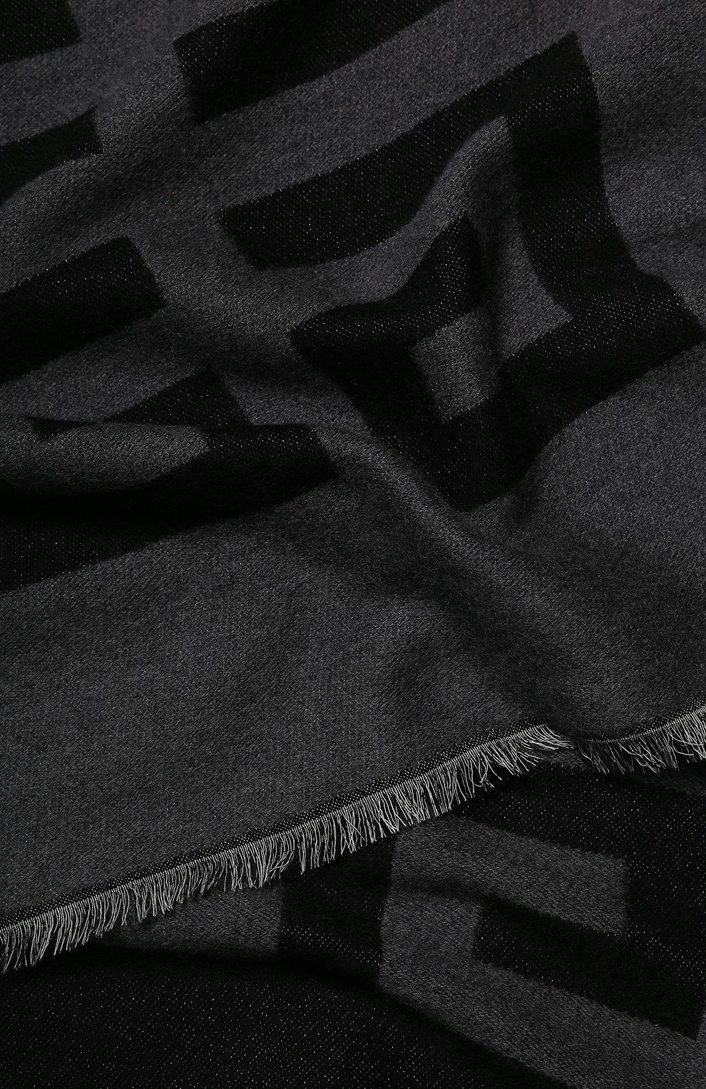 Мужской шерстяной шарф GIVENCHY черного цвета, арт. GV3518/J2550   Фото 2
