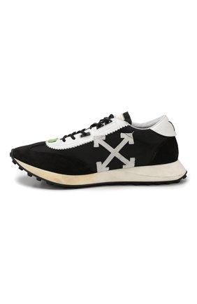 Мужские комбинированные кроссовки running OFF-WHITE черного цвета, арт. 0MIA127E19D380461001 | Фото 3