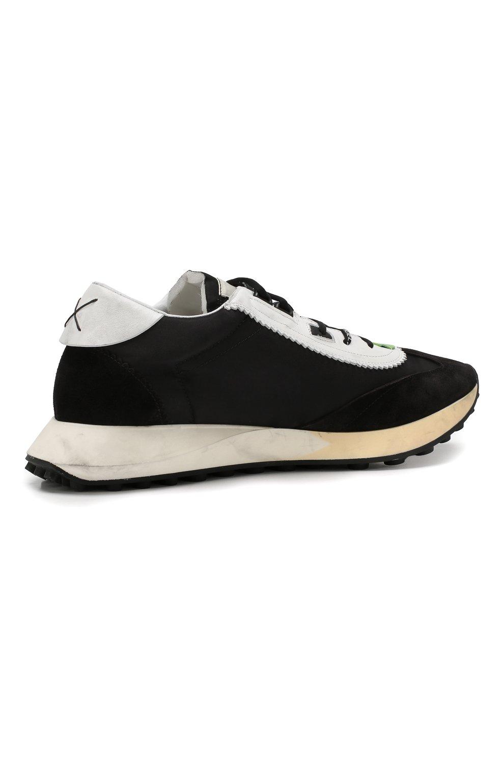 Мужские комбинированные кроссовки running OFF-WHITE черного цвета, арт. 0MIA127E19D380461001 | Фото 4
