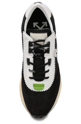 Мужские комбинированные кроссовки running OFF-WHITE черного цвета, арт. 0MIA127E19D380461001 | Фото 5