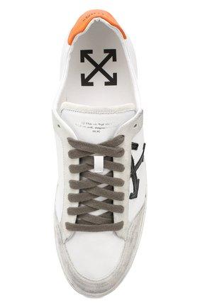 Мужские кожаные кеды 2.0 OFF-WHITE белого цвета, арт. 0MIA042E19D680480119   Фото 5
