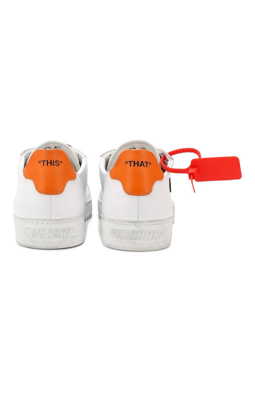 Мужские кожаные кеды 2.0 OFF-WHITE белого цвета, арт. 0MIA042E19D680480119   Фото 7