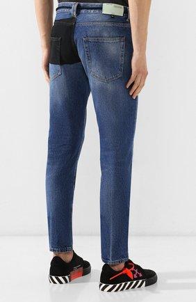 Мужские джинсы OFF-WHITE синего цвета, арт. 0MYA011E193860453228 | Фото 4