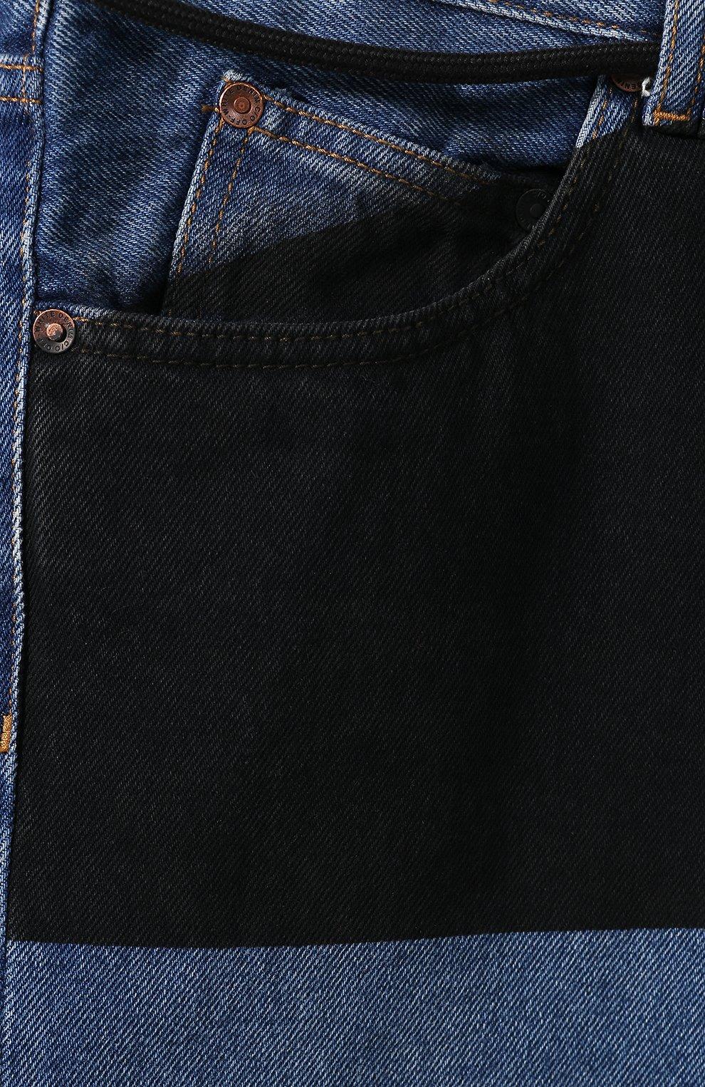 Мужские джинсы OFF-WHITE синего цвета, арт. 0MYA011E193860453228 | Фото 5