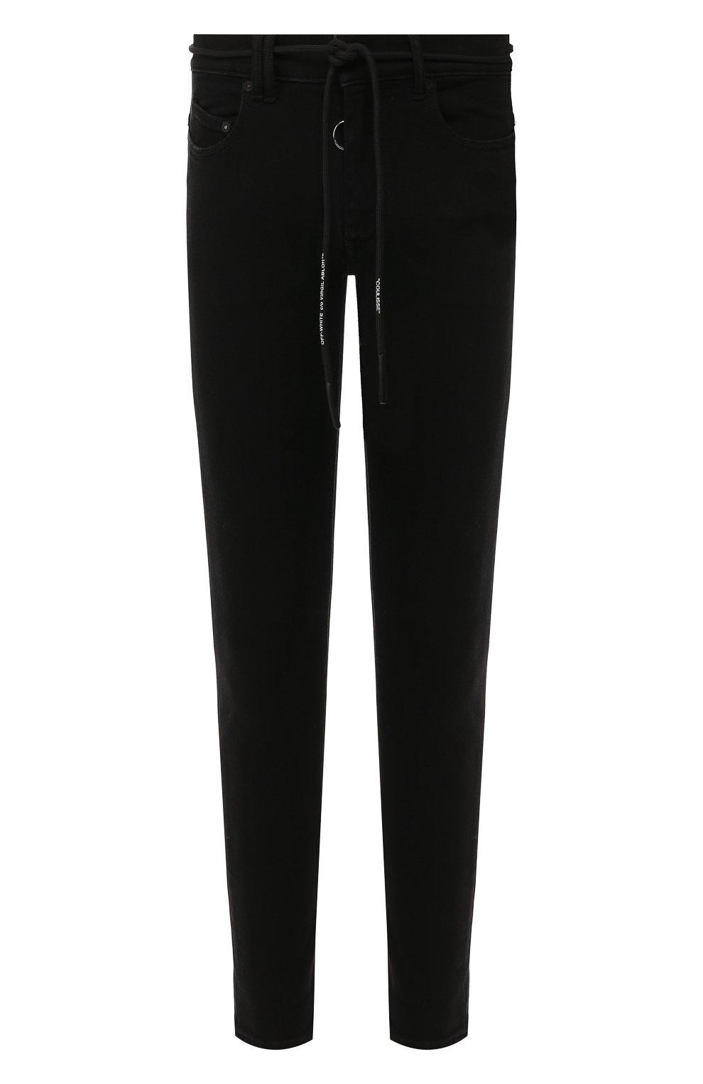 Мужские джинсы OFF-WHITE черного цвета, арт. 0MYA001E19E530451028 | Фото 1