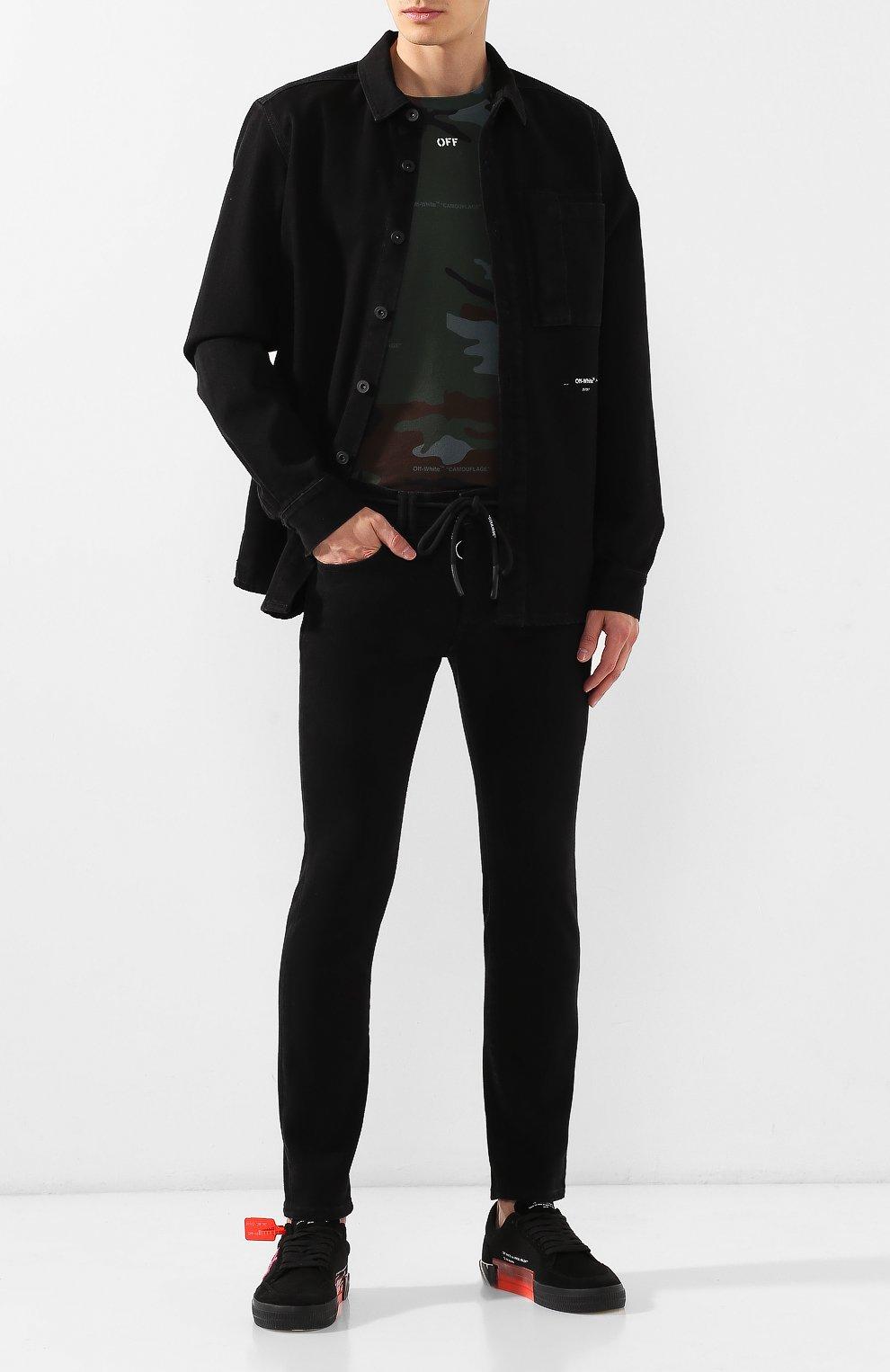 Мужские джинсы OFF-WHITE черного цвета, арт. 0MYA001E19E530451028 | Фото 2