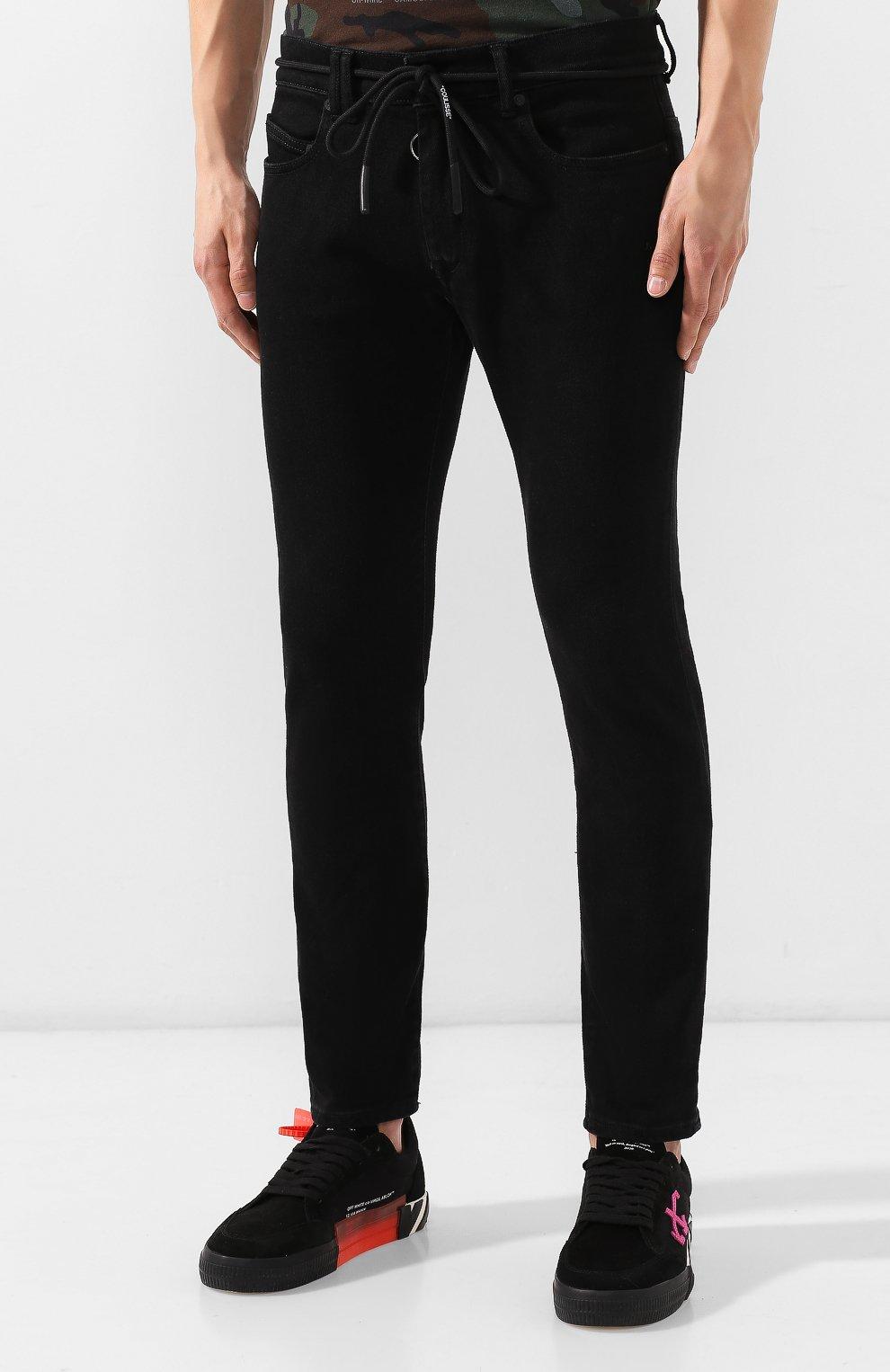 Мужские джинсы OFF-WHITE черного цвета, арт. 0MYA001E19E530451028 | Фото 3
