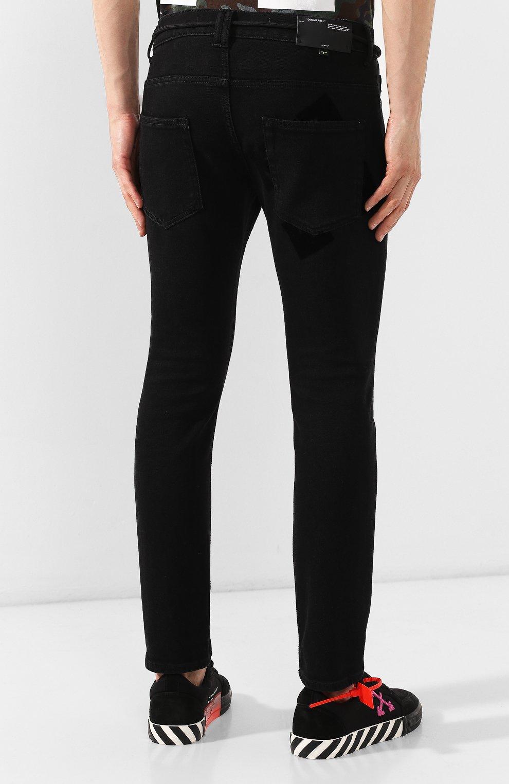 Мужские джинсы OFF-WHITE черного цвета, арт. 0MYA001E19E530451028 | Фото 4