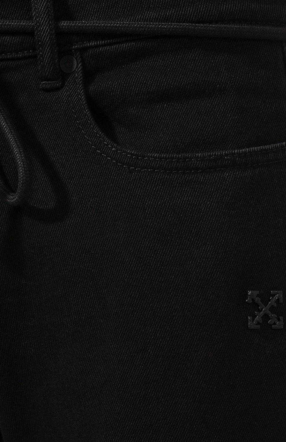 Мужские джинсы OFF-WHITE черного цвета, арт. 0MYA001E19E530451028 | Фото 5