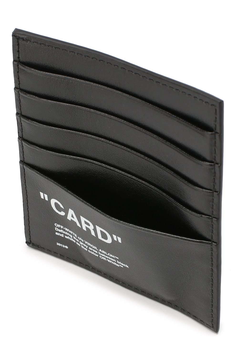 Мужской кожаный футляр для кредитных карт OFF-WHITE черного цвета, арт. 0MND005E198530581001   Фото 3
