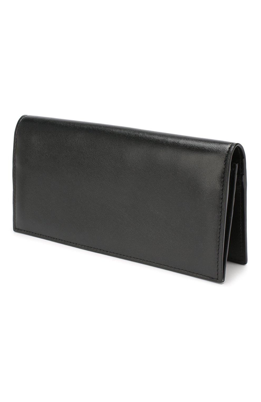 Мужской кожаное портмоне OFF-WHITE черного цвета, арт. 0MNC011E198530581001 | Фото 2