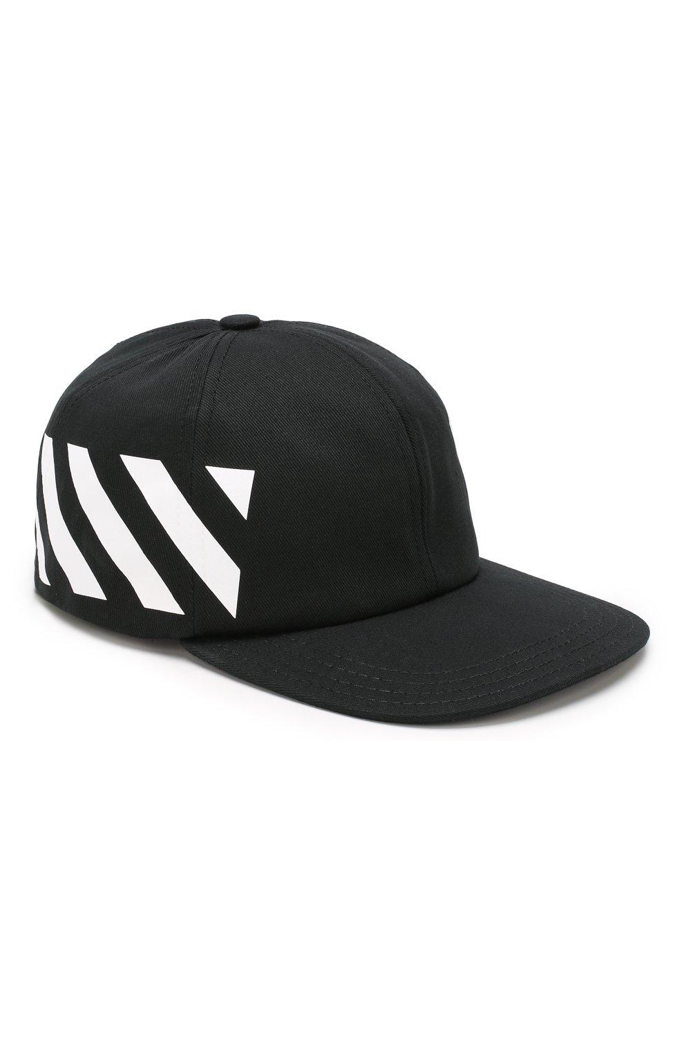 Мужской хлопковая бейсболка OFF-WHITE черного цвета, арт. 0MLB008E194000281001 | Фото 1