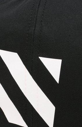 Мужской хлопковая бейсболка OFF-WHITE черного цвета, арт. 0MLB008E194000281001 | Фото 3