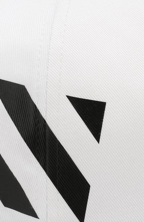 Мужской хлопковая бейсболка OFF-WHITE белого цвета, арт. 0MLB008E194000280110 | Фото 3