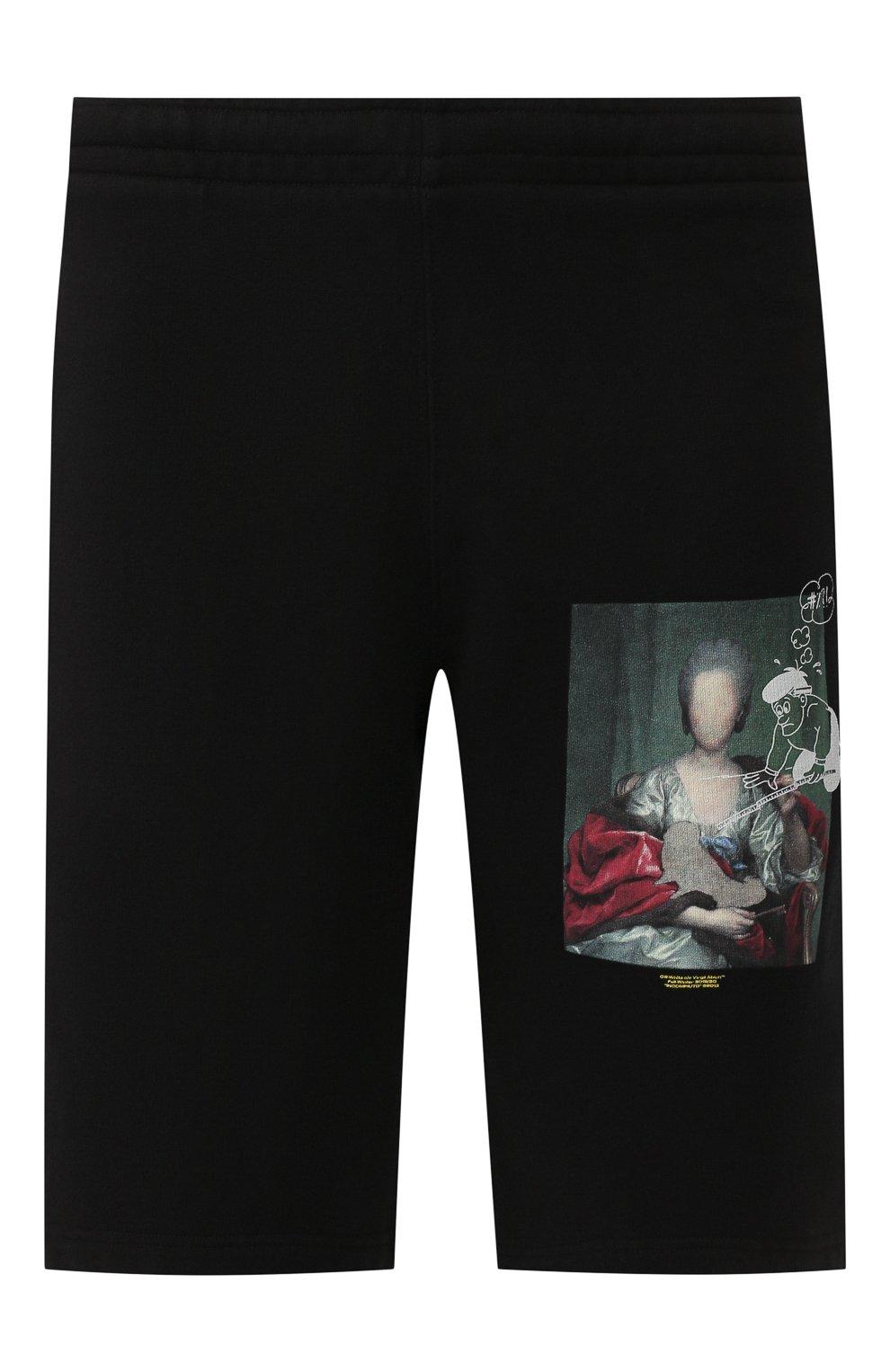 Мужские хлопковые шорты OFF-WHITE черного цвета, арт. 0MCI006E19E300051088 | Фото 1