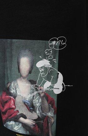 Мужские хлопковые шорты OFF-WHITE черного цвета, арт. 0MCI006E19E300051088 | Фото 5