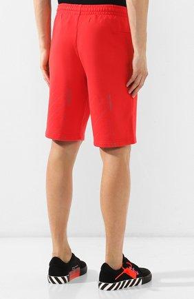 Мужские хлопковые шорты OFF-WHITE красного цвета, арт. 0MCI006E19E300032091 | Фото 4