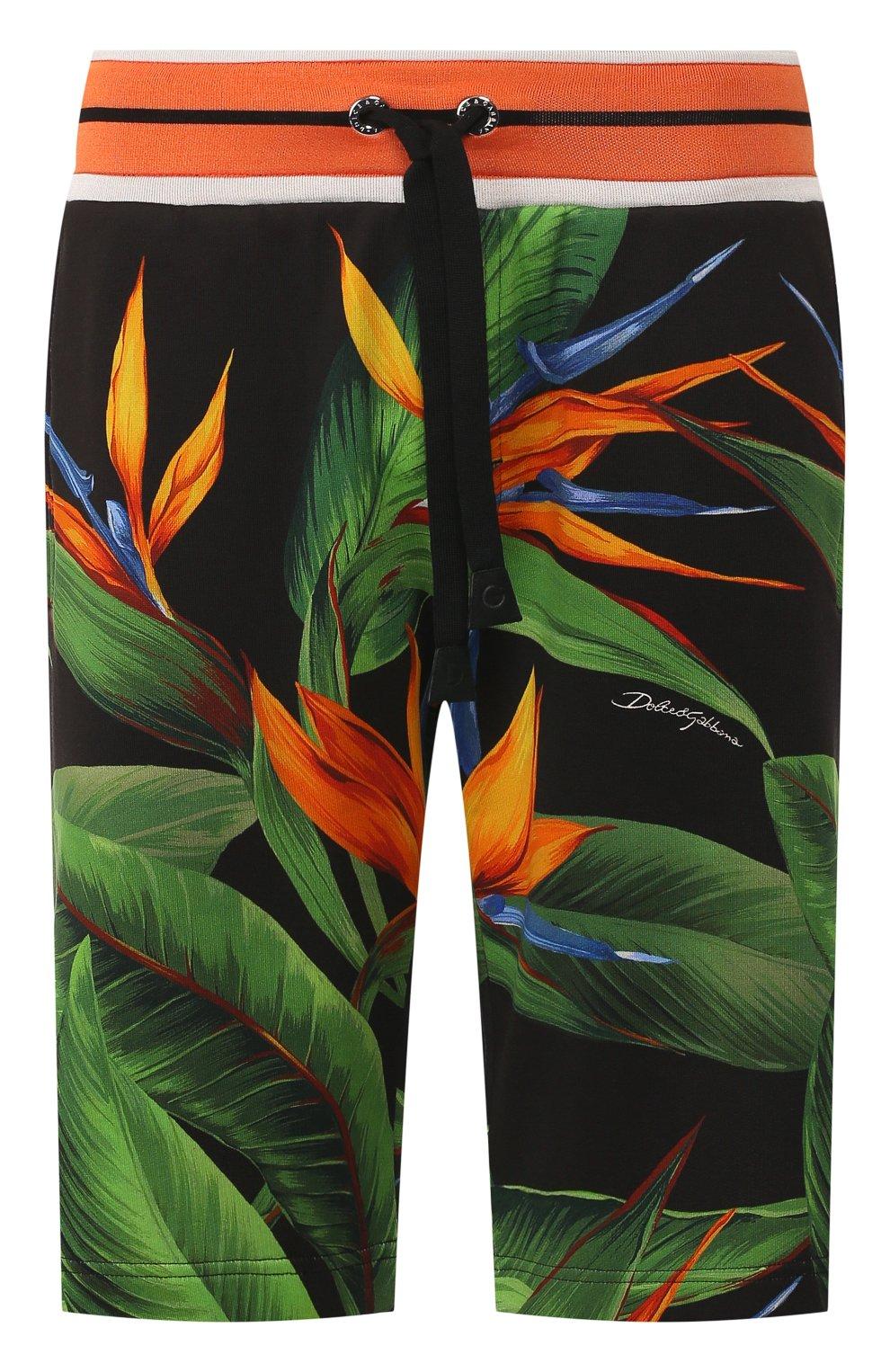 Мужские хлопковые шорты DOLCE & GABBANA зеленого цвета, арт. GYVAAT/HH7WD | Фото 1