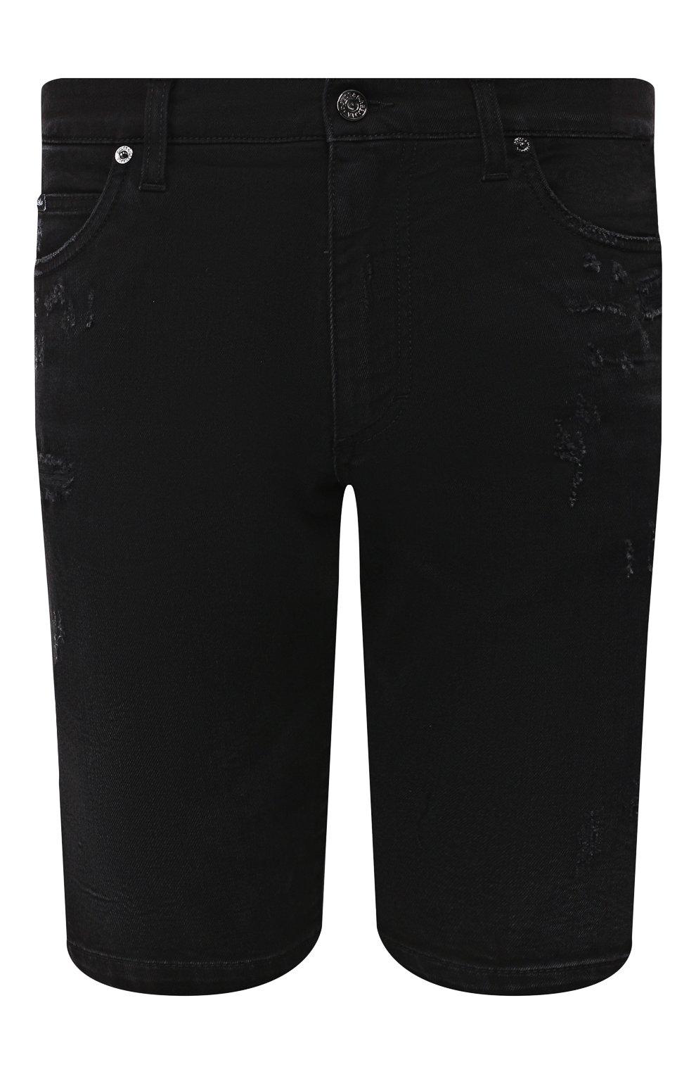 Мужские джинсовые шорты DOLCE & GABBANA черного цвета, арт. GY4JED/G8B05 | Фото 1