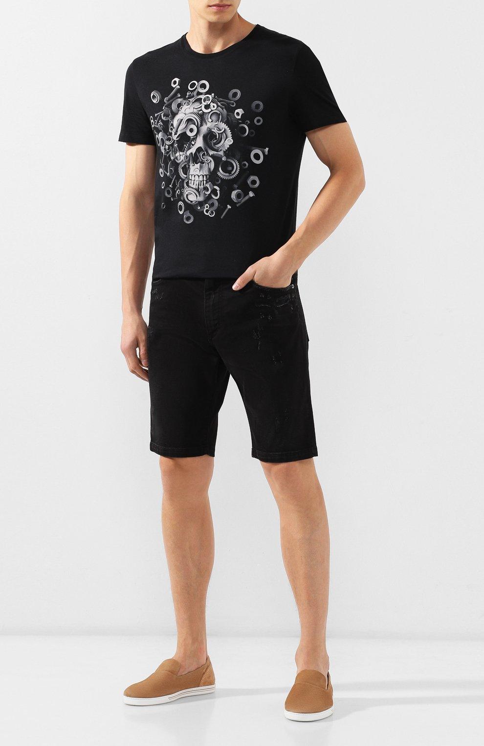 Мужские джинсовые шорты DOLCE & GABBANA черного цвета, арт. GY4JED/G8B05 | Фото 2