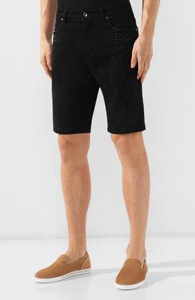 Мужские джинсовые шорты DOLCE & GABBANA черного цвета, арт. GY4JED/G8B05 | Фото 3