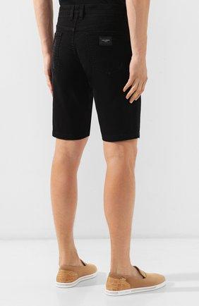 Мужские джинсовые шорты DOLCE & GABBANA черного цвета, арт. GY4JED/G8B05 | Фото 4