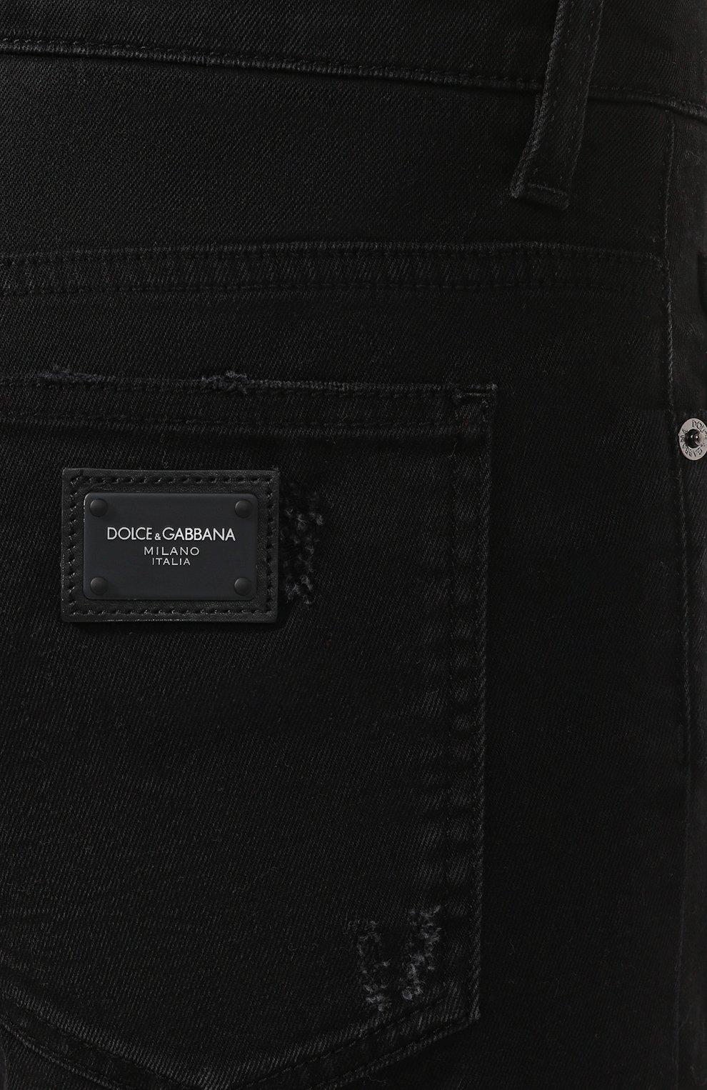 Мужские джинсовые шорты DOLCE & GABBANA черного цвета, арт. GY4JED/G8B05 | Фото 5