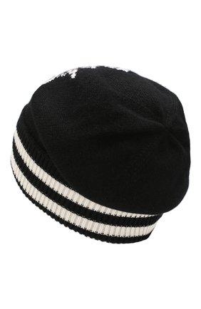 Мужская кашемировая шапка DOLCE & GABBANA черного цвета, арт. GX689T/JAWPE   Фото 2