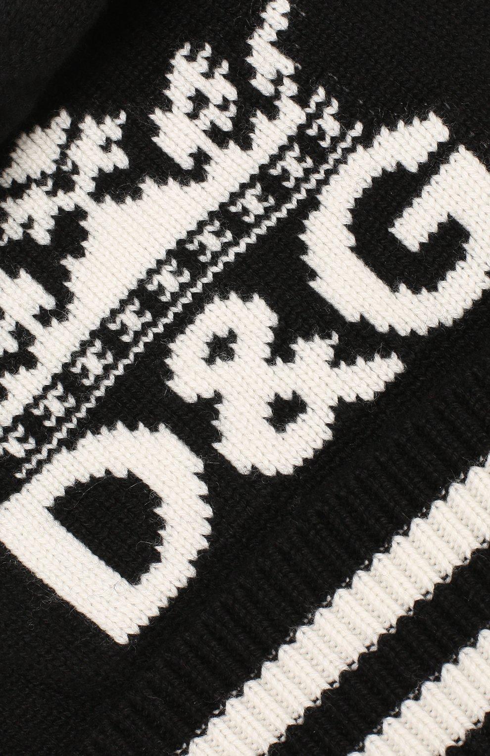 Мужская кашемировая шапка DOLCE & GABBANA черного цвета, арт. GX689T/JAWPE   Фото 3