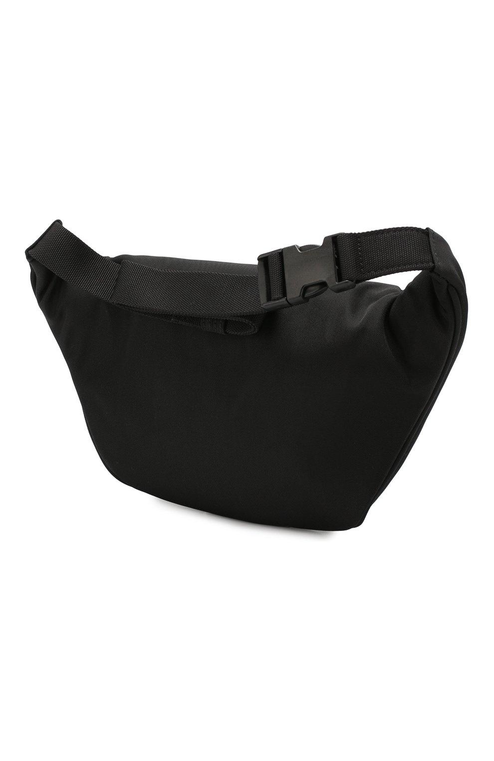 Мужская текстильная поясная сумка est. 1917 explorer BALENCIAGA черного цвета, арт. 482389/9TY2R   Фото 3