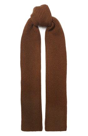 Мужской кашемировый шарф DOLCE & GABBANA коричневого цвета, арт. GX702T/JAW0V | Фото 1
