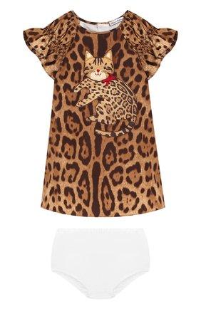 Женский комплект из платья и шорт DOLCE & GABBANA разноцветного цвета, арт. 0131/L25D45/FS5C5 | Фото 1