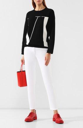 Женские кожаные дерби valentino garavani go logo VALENTINO красного цвета, арт. SW2S0P38/JZI | Фото 2