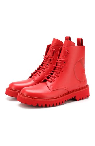 Кожаные ботинки Valentino Garavani Go Logo