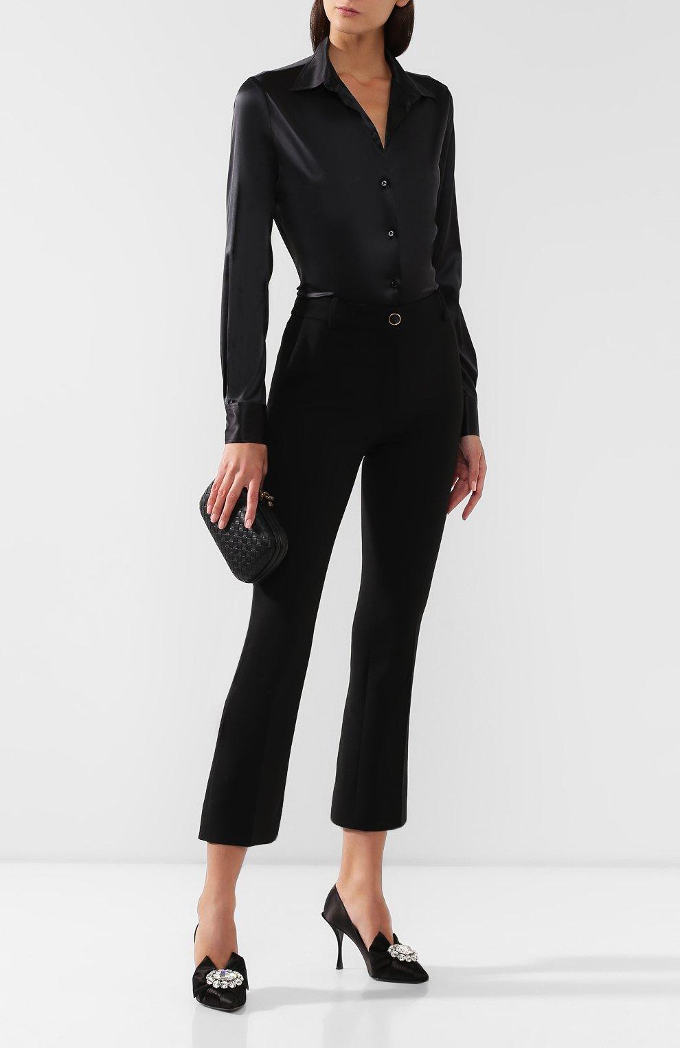 Женские текстильные туфли lori DOLCE & GABBANA черного цвета, арт. CD1303/A7630 | Фото 2