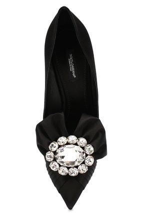 Женские текстильные туфли lori DOLCE & GABBANA черного цвета, арт. CD1303/A7630 | Фото 5