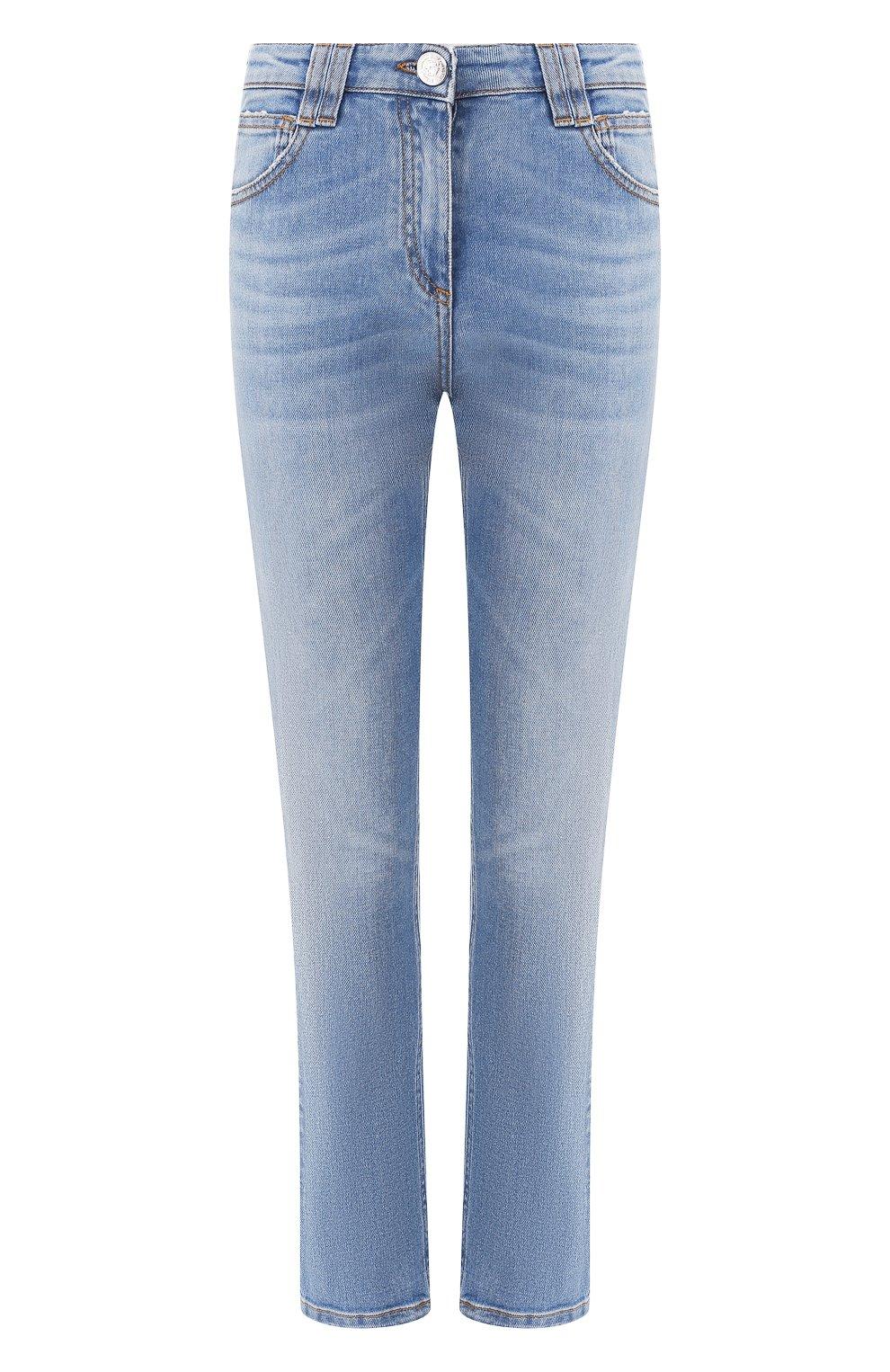 Женские джинсы BALMAIN голубого цвета, арт. SF15634/D067   Фото 1