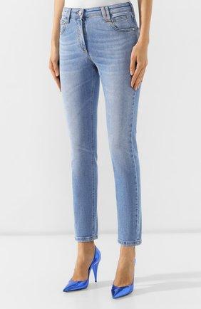 Женские джинсы BALMAIN голубого цвета, арт. SF15634/D067   Фото 3