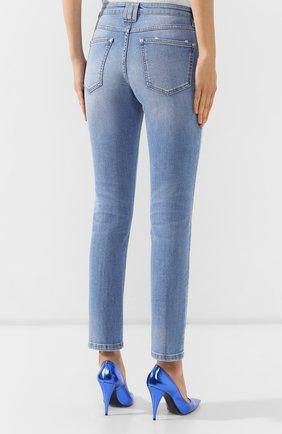 Женские джинсы BALMAIN голубого цвета, арт. SF15634/D067   Фото 4